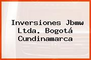 Inversiones Jbmw Ltda. Bogotá Cundinamarca