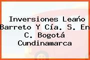Inversiones Leaño Barreto Y Cía. S. En C. Bogotá Cundinamarca