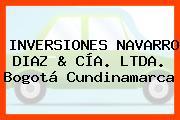 INVERSIONES NAVARRO DIAZ & CÍA. LTDA. Bogotá Cundinamarca