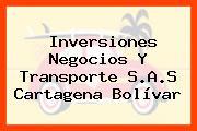 Inversiones Negocios Y Transporte S.A.S Cartagena Bolívar