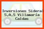 Inversiones Sideral S.A.S Villamaría Caldas