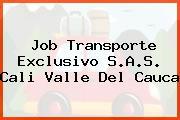 Job Transporte Exclusivo S.A.S. Cali Valle Del Cauca