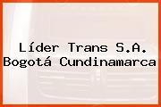 Líder Trans S.A. Bogotá Cundinamarca