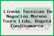 Líneas Tecnicas De Negocios Moreno Tours Ltda. Bogotá Cundinamarca