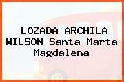 LOZADA ARCHILA WILSON Santa Marta Magdalena