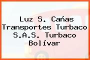 Luz S. Cañas Transportes Turbaco S.A.S. Turbaco Bolívar
