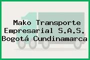 Mako Transporte Empresarial S.A.S. Bogotá Cundinamarca