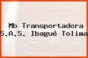 Mb Transportadora S.A.S. Ibagué Tolima