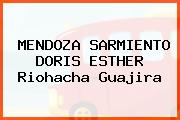 MENDOZA SARMIENTO DORIS ESTHER Riohacha Guajira