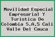 Movilidad Especial Empresarial Y Turistica De Colombia S.A.S Cali Valle Del Cauca