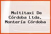 Multitaxi De Córdoba Ltda. Montería Córdoba