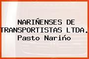 NARIÑENSES DE TRANSPORTISTAS LTDA. Pasto Nariño