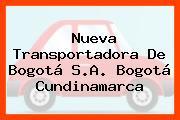 Nueva Transportadora De Bogotá S.A. Bogotá Cundinamarca