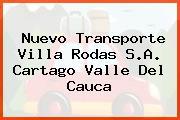 Nuevo Transporte Villa Rodas S.A. Cartago Valle Del Cauca