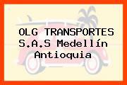 OLG TRANSPORTES S.A.S Medellín Antioquia