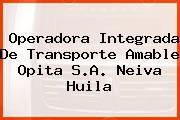 Operadora Integrada De Transporte Amable Opita S.A. Neiva Huila