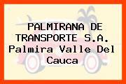 PALMIRANA DE TRANSPORTE S.A. Palmira Valle Del Cauca