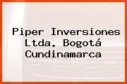 Piper Inversiones Ltda. Bogotá Cundinamarca