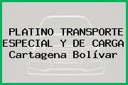 PLATINO TRANSPORTE ESPECIAL Y DE CARGA Cartagena Bolívar