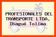 PROFESIONALES DEL TRANSPORTE LTDA. Ibagué Tolima