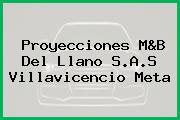 Proyecciones M&B Del Llano S.A.S Villavicencio Meta