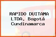 RAPIDO DUITAMA LTDA. Bogotá Cundinamarca