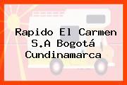Rapido El Carmen S.A Bogotá Cundinamarca