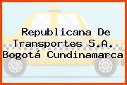 Republicana De Transportes S.A. Bogotá Cundinamarca
