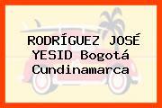 RODRÍGUEZ JOSÉ YESID Bogotá Cundinamarca