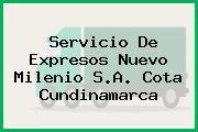 Servicio De Expresos Nuevo Milenio S.A. Cota Cundinamarca