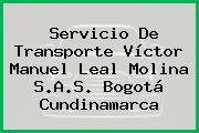 Servicio De Transporte Víctor Manuel Leal Molina S.A.S. Bogotá Cundinamarca