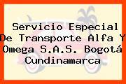 Servicio Especial De Transporte Alfa Y Omega S.A.S. Bogotá Cundinamarca