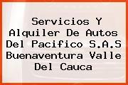 Servicios Y Alquiler De Autos Del Pacifico S.A.S Buenaventura Valle Del Cauca
