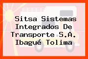 Sitsa Sistemas Integrados De Transporte S.A. Ibagué Tolima