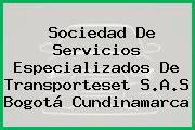 Sociedad De Servicios Especializados De Transporteset S.A.S Bogotá Cundinamarca