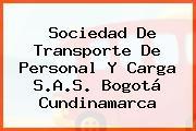 Sociedad De Transporte De Personal Y Carga S.A.S. Bogotá Cundinamarca