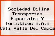 Sociedad Dilina Transportes Especiales Y Turisticos S.A.S Cali Valle Del Cauca