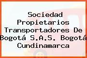 Sociedad Propietarios Transportadores De Bogotá S.A.S. Bogotá Cundinamarca