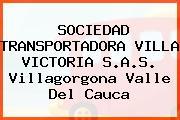 SOCIEDAD TRANSPORTADORA VILLA VICTORIA S.A.S. Villagorgona Valle Del Cauca