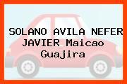 SOLANO AVILA NEFER JAVIER Maicao Guajira
