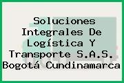 Soluciones Integrales De Logística Y Transporte S.A.S. Bogotá Cundinamarca