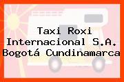 Taxi Roxi Internacional S.A. Bogotá Cundinamarca