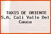 TAXIS DE ORIENTE S.A. Cali Valle Del Cauca