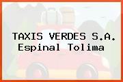 TAXIS VERDES S.A. Espinal Tolima