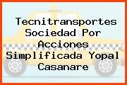 Tecnitransportes Sociedad Por Acciones Simplificada Yopal Casanare