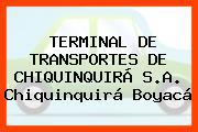 TERMINAL DE TRANSPORTES DE CHIQUINQUIRÁ S.A. Chiquinquirá Boyacá