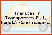 Tramites Y Transportes E.U. Bogotá Cundinamarca