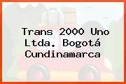Trans 2000 Uno Ltda. Bogotá Cundinamarca