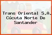 Trans Oriental S.A. Cúcuta Norte De Santander