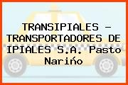 TRANSIPIALES - TRANSPORTADORES DE IPIALES S.A. Pasto Nariño